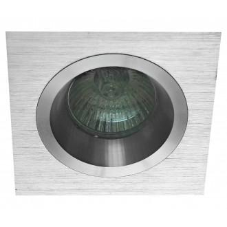 VIOKEF 4106100 | Richard Viokef ugradbena svjetiljka 92x92mm 1x GU10 srebrno