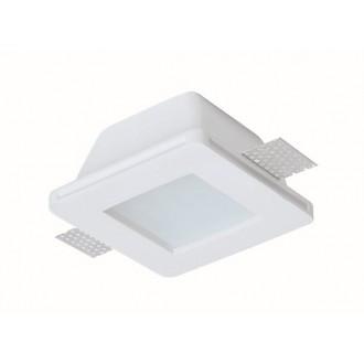 VIOKEF 4116000 | Dalton-VI Viokef ugradbena svjetiljka može se bojati 120x120mm 1x MR16 / GU5.3 / GU10 IP44/20 bijelo