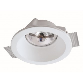 VIOKEF 4116300 | Boston-VI Viokef ugradbena svjetiljka može se bojati 200x200mm 1x G53 / AR111 | GU10 / ES111 bijelo