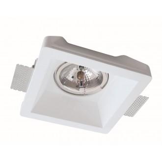 VIOKEF 4116400 | Boston-VI Viokef ugradbena svjetiljka može se bojati Ø200mm 1x G53 / AR111 | GU10 / ES111 bijelo