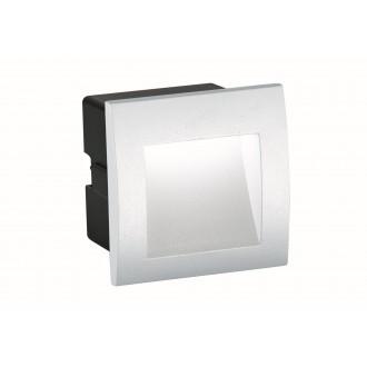 VIOKEF 4124801 | Riva-VI Viokef ugradbena svjetiljka 90x90mm 1x LED 105lm 3000K IP65 bijelo, crno