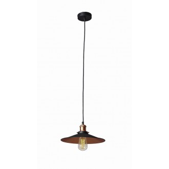 VIOKEF 4135300 | Adisson Viokef visilice svjetiljka 1x E27 crno, crveni bakar
