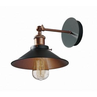 VIOKEF 4135400 | Adisson Viokef zidna svjetiljka 1x E27 crno, crveni bakar