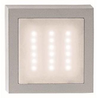 VIOKEF 4136100 | Leros Viokef zidna svjetiljka 1x LED 140lm 3000K IP44 sivo, bijelo