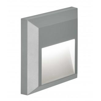 VIOKEF 4137800 | Leros-Plus Viokef zidna svjetiljka 1x LED 112lm 3000K IP44 sivo
