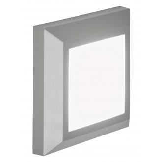 VIOKEF 4137900 | Leros-Plus Viokef zidna svjetiljka 1x LED 260lm 3000K IP44 sivo, bijelo