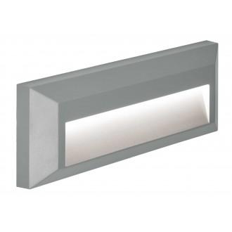 VIOKEF 4138100 | Leros-Plus Viokef zidna svjetiljka 1x LED 112lm 3000K IP44 sivo