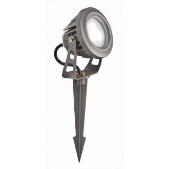 VIOKEF 4143600 | Tech Viokef reflektor, ubodne svjetiljke svjetiljka elementi koji se mogu okretati 1x LED 540lm 3000K IP65 sivo