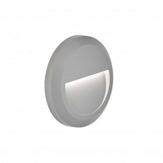 VIOKEF 4156100 | Leros-Plus Viokef zidna svjetiljka 1x LED 112lm 3000K IP44 sivo