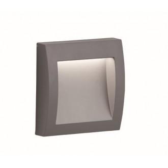VIOKEF 4171800 | Leros-Plus Viokef zidna svjetiljka 1x LED 130lm 3000K IP44 srebrno