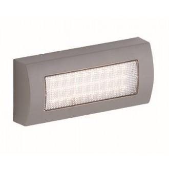VIOKEF 4171900 | Leros-Plus Viokef zidna svjetiljka 1x LED 190lm 3000K IP44 srebrno