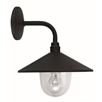 VIOKEF 4178200   Pilos Viokef zidna svjetiljka 1x E27 IP44 crno, prozirna