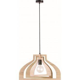 VIOKEF 4184400 | Roxie Viokef visilice svjetiljka 1x E27 smeđe, crno