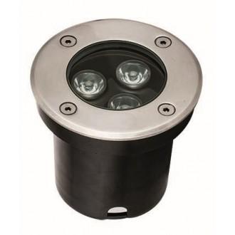 VIOKEF 4186800 | Lotus-VI Viokef ugradbena svjetiljka Ø100mm 1x LED 330lm 3200K IP67 srebrno, crno