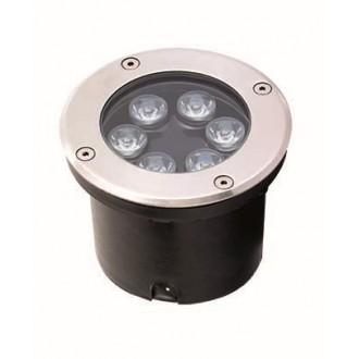 VIOKEF 4186900 | Lotus-VI Viokef ugradbena svjetiljka Ø120mm 1x LED 660lm 3200K IP67 srebrno, crno
