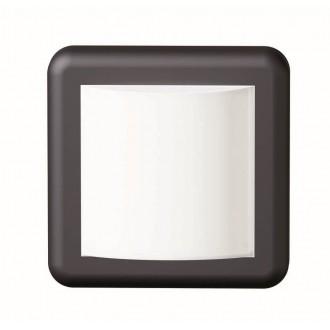 VIOKEF 4189600 | Minos Viokef zidna svjetiljka 1x LED 400lm 3000K IP54 crno, bijelo