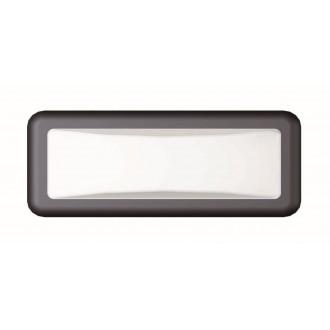 VIOKEF 4189700 | Minos Viokef zidna svjetiljka 1x LED 500lm 3000K IP54 crno, bijelo