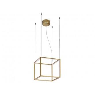 VIOKEF 4207100 | Gold-Cube Viokef visilice svjetiljka 1x LED 2880lm 3000K zlatno