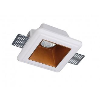 VIOKEF 4209900 | Flame-VI Viokef ugradbena svjetiljka može se bojati 120x120mm 1x GU10 bijelo, crveni bakar