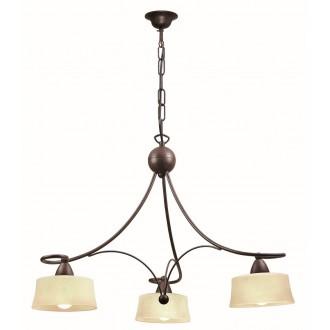 VIOKEF 466700 | Simona Viokef visilice svjetiljka 3x E14 bež, smeđe