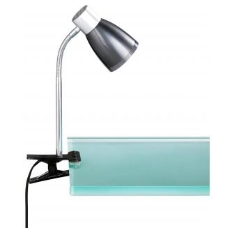 WOFI 234901109000 | Jos Wofi svjetiljke sa štipaljkama svjetiljka sa prekidačem na kablu fleksibilna 1x E14 470lm 3000K crno, krom, prozirna crna
