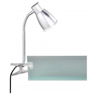WOFI 234901509000 | Jos Wofi svjetiljke sa štipaljkama svjetiljka sa prekidačem na kablu fleksibilna 1x E14 470lm 3000K sivo, krom, prozirno
