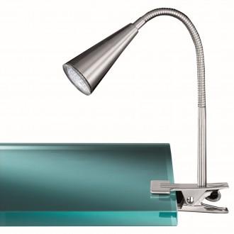 WOFI 286601640000 | Arcos Wofi svjetiljke sa štipaljkama svjetiljka sa prekidačem na kablu fleksibilna 1x GU10 250lm 3000K poniklano mat