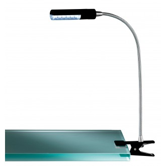 WOFI 290312100000 | FlexW Wofi svjetiljke sa štipaljkama svjetiljka s prekidačem fleksibilna 1x LED 200lm 3000K crno, krom