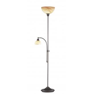 WOFI 3128.02.09.0000 | Lacchino Wofi podna svjetiljka 180cm sa tiristorski nožnim prekidačem jačina svjetlosti se može podešavati 1x E27 + 1x E14 boja rdže