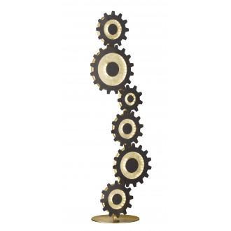 WOFI 3215.06.15.8301 | Leif-WO Wofi podna svjetiljka 113cm sa prekidačem na kablu 1x LED 2860lm 3000K zlatno, crno