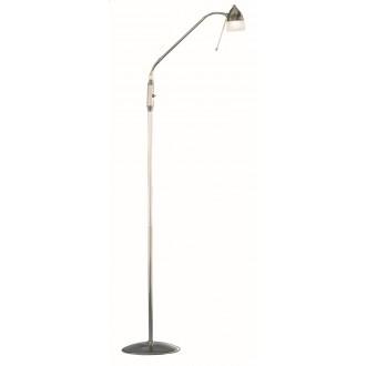WOFI 3840.01.64.0000 | Ali Wofi podna svjetiljka 150cm s prekidačem fleksibilna 1x G9 poniklano mat