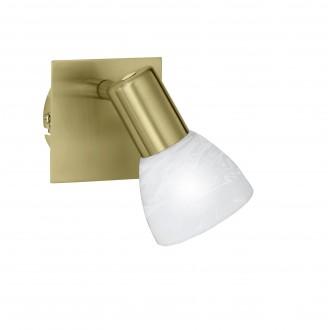 WOFI 4354.01.32.1000 | Angola Wofi zidna svjetiljka s prekidačem za štednu žarulju 1x E14 zlato mat