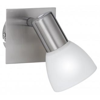 WOFI 4354.01.64.0000 | Angola Wofi zidna svjetiljka s prekidačem za štednu žarulju 1x E14 poniklano mat