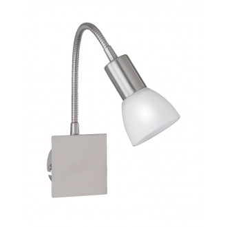 WOFI 4354.01.64.0500 | Angola Wofi zidna svjetiljka s prekidačem fleksibilna, za štednu žarulju 1x E14 poniklano mat