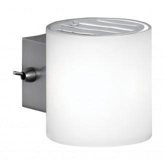 WOFI 4451.01.64.0500 | Aqaba Wofi zidna svjetiljka sa prekidačem na kablu 1x G9 poniklano mat
