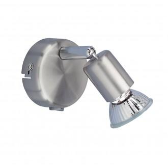 WOFI 4669.01.64.0000 | Nini Wofi zidna svjetiljka s prekidačem 1x GU10 250lm 3000K poniklano mat