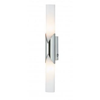 WOFI 4931.02.64.0000 | Eddy Wofi zidna svjetiljka s prekidačem za štednu žarulju 2x E14 poniklano mat