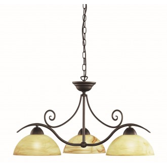 WOFI 5128.03.09.0000 | Lacchino Wofi luster svjetiljka s mogućnošću skraćivanja kabla 3x E27 boja rdže