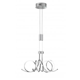 WOFI 5227.05.01.6000 | Cyrano Wofi visilice svjetiljka balansna - ravnotežna, sa visinskim podešavanjem, jačina svjetlosti se može podešavati 1x LED 2700lm 3000K krom