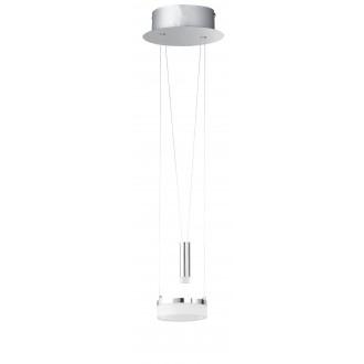 WOFI 6263.02.54.6000 | Jette Wofi visilice svjetiljka balansna - ravnotežna, sa visinskim podešavanjem, jačina svjetlosti se može podešavati 1x LED 660lm + 1x LED 60lm 3000K poniklano mat, krom, bijelo