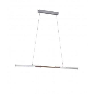 WOFI 6266.01.63.8000 | Kit Wofi visilice svjetiljka s mogućnošću skraćivanja kabla, elementi koji se mogu okretati 1x LED 2300lm 3000K brušeni aluminij