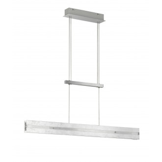 WOFI 6379.02.70.7000 | Arlon Wofi visilice svjetiljka sa tiristorskim prekidačem balansna - ravnotežna, sa visinskim podešavanjem, jačina svjetlosti se može podešavati 2x LED 2030lm 3000K srebrno