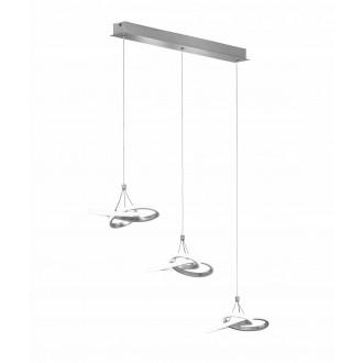 WOFI 6410.03.70.8000   Eliot-WO Wofi visilice svjetiljka s mogućnošću skraćivanja kabla 3x LED 3300lm 3000K srebrno