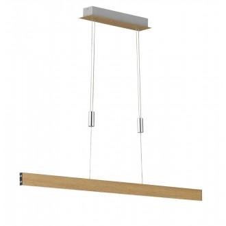 WOFI 7096.01.51.8000 | Sydney-WO Wofi visilice svjetiljka sa tiristorski dodirnim prekidačem balansna - ravnotežna, sa visinskim podešavanjem, jačina svjetlosti se može podešavati 1x LED 2550lm 3000K drvo
