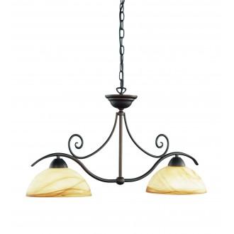 WOFI 7128.02.09.0000 | Lacchino Wofi visilice svjetiljka s mogućnošću skraćivanja kabla 2x E27 boja rdže