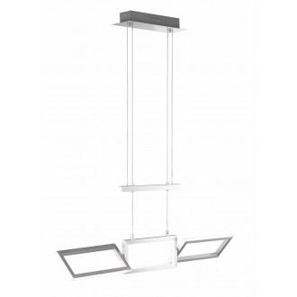 WOFI 7159.01.63.8000 | Skip Wofi visilice svjetiljka elementi koji se mogu okretati, visina koja se podešava protutegom 1x LED 2100lm 3000K brušeni aluminij
