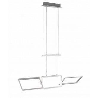 WOFI 7159.01.63.8100 | Skip Wofi visilice svjetiljka elementi koji se mogu okretati, visina koja se podešava protutegom 1x LED 2700lm 3000K brušeni aluminij