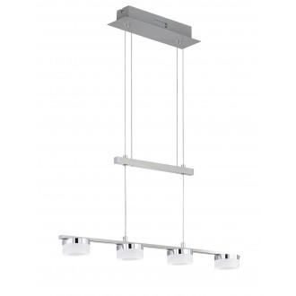 WOFI 7175.04.54.7000 | LoganW Wofi visilice svjetiljka balansna - ravnotežna, sa visinskim podešavanjem, jačina svjetlosti se može podešavati 4x LED 1280lm 3000K poniklano mat, krom, bijelo