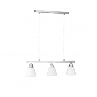 WOFI 7204.03.64.0000 | MaliW Wofi visilice svjetiljka za štednu žarulju 3x E14 poniklano mat