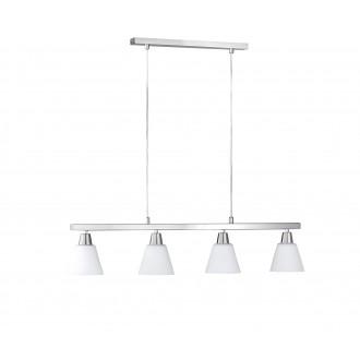 WOFI 7204.04.64.0000 | MaliW Wofi visilice svjetiljka za štednu žarulju 4x E14 poniklano mat
